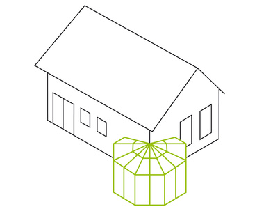 Polygon- als Über-Eck-Lösung