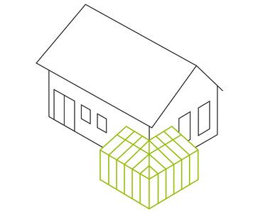 Pultdach- als Über-Eck-Lösung