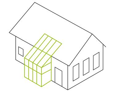 Pultdach- als integrierte In-Dach-Lösung