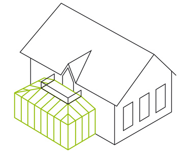 Pultdach- mit Balkon-Integration
