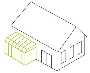 Pultdach- mit Solarknick
