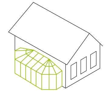 Pultdach- mit beidseitigem Polygon